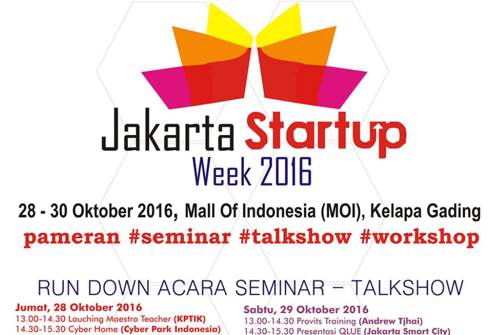Jakarta Startup  Week 2016